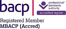 Location and Fees. BACP accredited logo